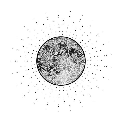 Mėnulio kalendoriaus iliustracija