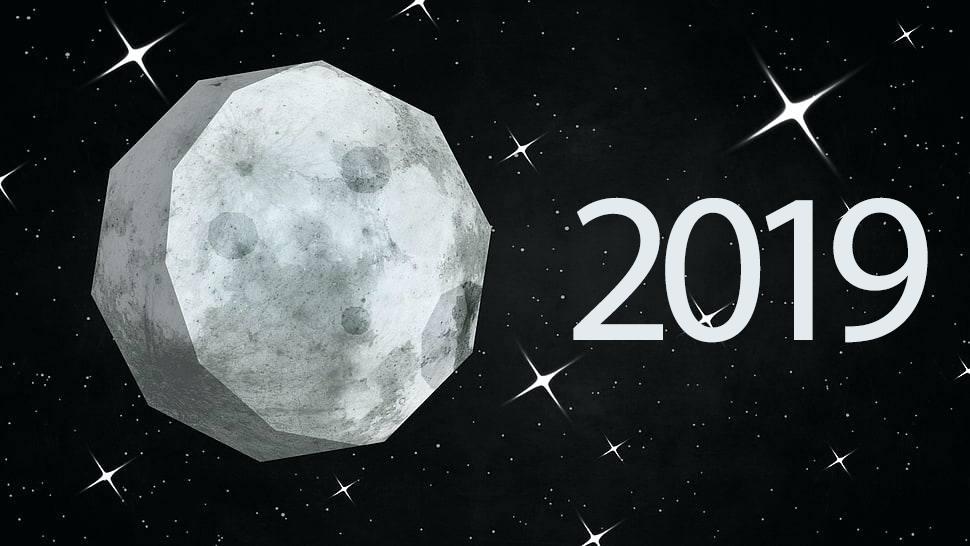 Mėnulio kalendorius 2019 metams