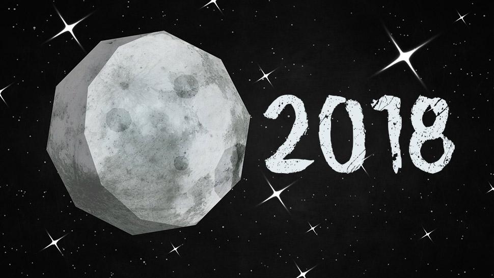 Mėnulio kalendorius 2018
